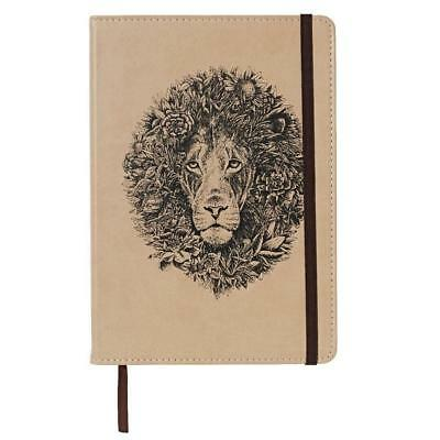 Marini Ferlazzo African Lion A5 Hard Cover Journal Notebook Faux Leather, Ruled