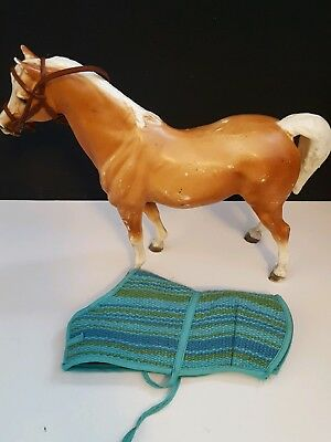 Vintage Breyer Horse Breyer Molding Co. USA Stands 9 inches tall Horse Blanket