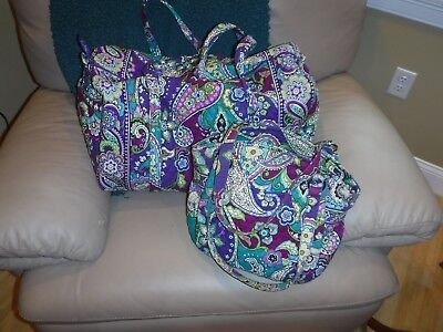 Lot of Vera Bradley large travel bag and Glenna bag