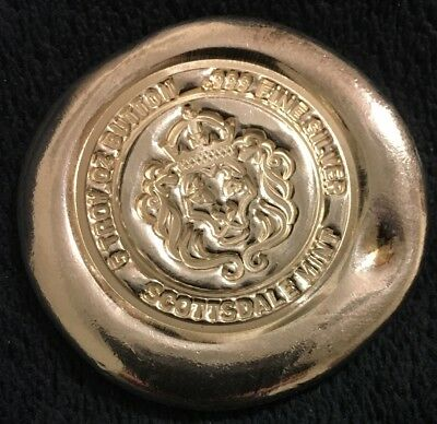 5 Troy Ounce Scottsdale Button .999 Silver