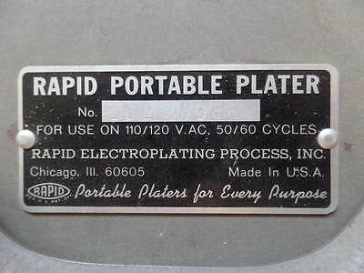 Rapid Portable Plater Electroplating Process Inc