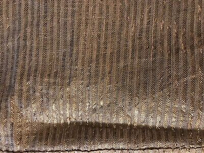 18th Century (?) Fabric with Gold Threads Stripes And Linen (?)