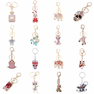 Crystal Rhinestone Keyring Keychain Pendant Bag Handbag Purse Car Key Chain Ring