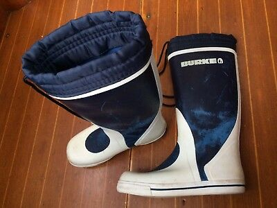 Burke Rubber Sole Blue & White Sea Boots - Boating / Sailing - Size 42