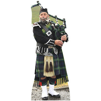 BAGPIPE PLAYER Lifesize CARDBOARD CUTOUT Standee Standup Poster Scottish Piper