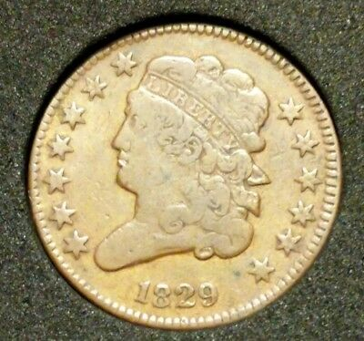 Nice 1829 Classic Head half cent! Bold LIBERTY and details. Some corrosion rev.