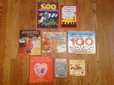 Teacher Lot of 8 FEBRUARY Books GROUNDHOG 100th Day VALENTINES DAY ~ Nice!
