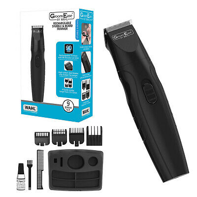 Wahl 9685-517 GroomEase Rechargeable Stubble & Beard Hair Trimmer Black