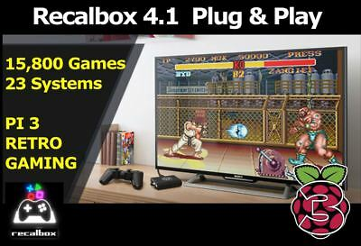 32GB Raspberry Pi Micro SD 15800+ Games Recalbox Configured better than RetroPie