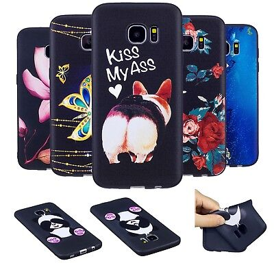 Case Soft Skin Silicone Pattern Cover For Samsung Galaxy S7 edge J3 J5 J7 2017