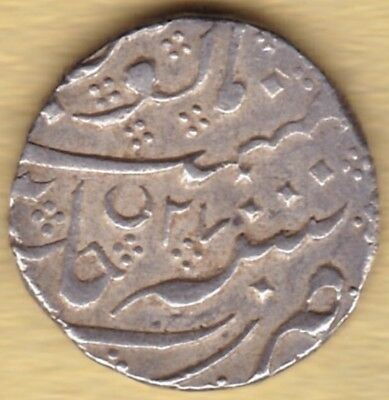 French India Silver 1 Rupee Ah122X Ry27 #w32