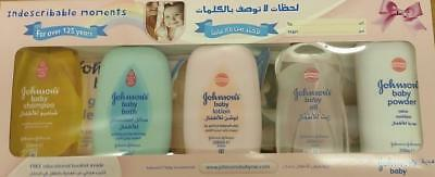 ** Johnsons Baby Indescribable Moments Gift Set Shampoo Lotion Powder New **