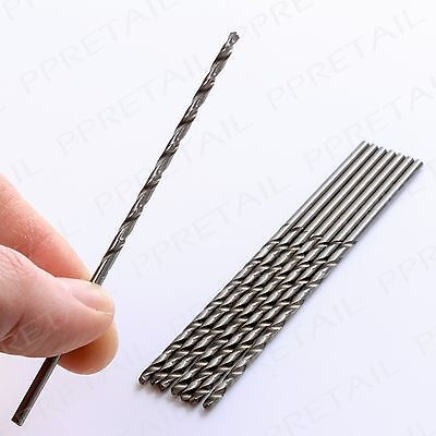 EXTRA LONG 2.5mm Drill Bit HSS Straight Large Twist Shank Plastic/Metal/Wood Set
