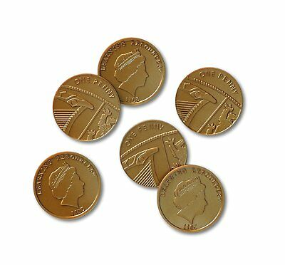 1p one Pence Pieces Play money Learning Resource maths shop plastic coins