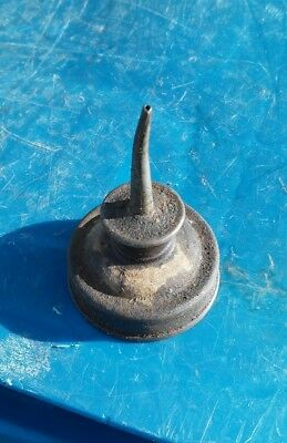 """Vintage Oiler Oil Can Spout Miniature Tiny Little Thumb Oiler. 2 1/2"""" tall"""