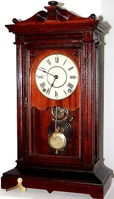 "Antique Running 1884 Seth Thomas City Series ""greek"" Xl Carved Mantel Clock"