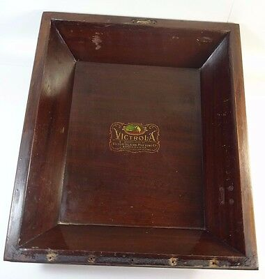 VTG 1920 Victor Victrola VV XI Upright Phonograph Part - Top Lid Cover