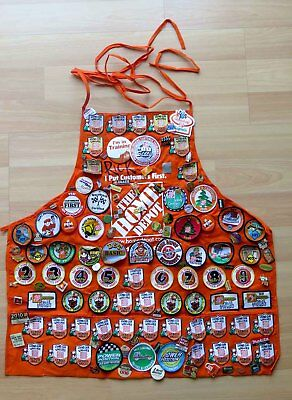 HOME DEPOT Employee Apron Full of Lapel Pins
