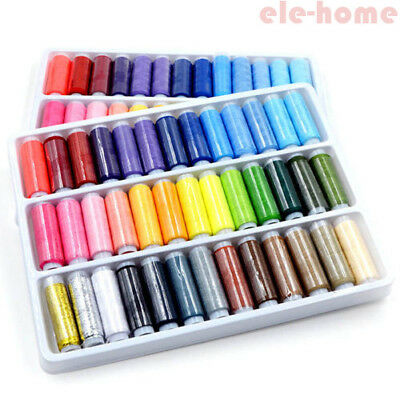 39pcs 200 Yard Mixed Color Polyester Spool Sewing Thread For Hand Machine Set EH