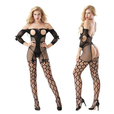 Fantasias sexy erotic Sheath  plus size lingerie sexy catsuit stocking bowknot