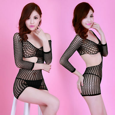 Bodysuit women Sheath plus size lingerie sexy catsuit Wrap Dress Grid skirt