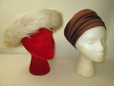 Women's Vintage Hats Lot of 2 Roberta Bernay & Ida M. Lewis 100% Wool Made in US