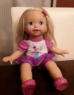 Little Mommy Talk with Me Repeating Doll EUC Works!