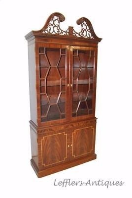 Flamed Mahogany Federal Style China Cabinet By Councill Craftsman