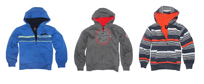 NEW Quicksilver Boys Sherpa Lined Hoodie - Various Colors