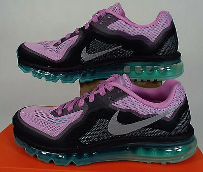 Womens 8 NIKE Air Max 2014 Purple Turquoise Running Shoes $180 621078-504