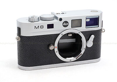 LEICA M8.2 SILVER DIGITAL CAMERA BODY #10712 USED with BLACK DOT LOGO & FILTERS