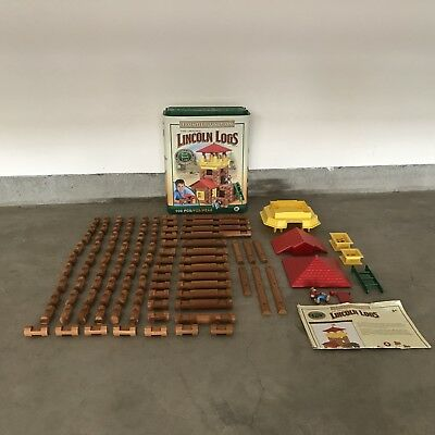Lincoln Logs Frontier Junction 2006 Over 100 Pieces In Orig. Box Wood Complete
