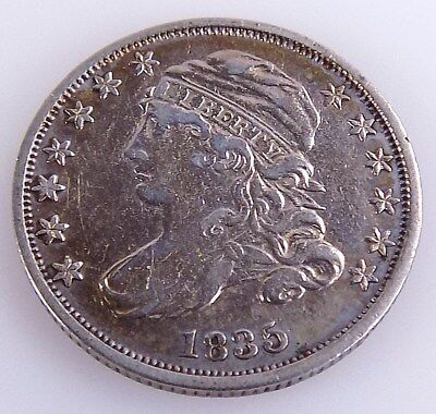 1835 Capped Bust Silver Dime Coin Free S/h # 8146