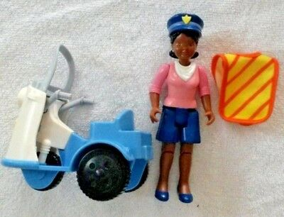 Loving Family Dream Dollhouse African American Crossing Guard with Scooter Rare