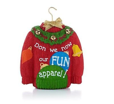 2013 Hallmark HOLIDAY SWEATER Ornament FUN APPAREL Ugly Christmas