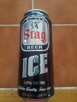 Stag Ice 16 oz beer can