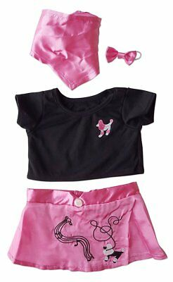 """50s Poodle Skirt Teddy Clothes Fits Most 14""""-18"""" Make Your Own Stuffed Animals"""