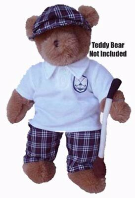 "Golf Outfit Teddy Bear Clothes - Fits Most 14""-18"" Make Your Own Stuffed Animals"