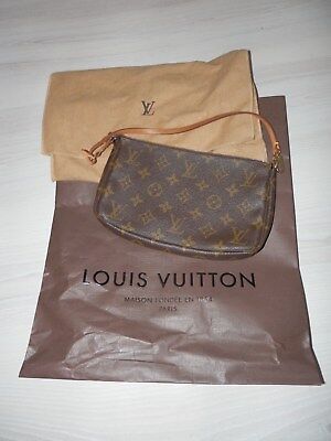 Authentic Louis Vuitton Monogram Pochette Small Bag, immaculate