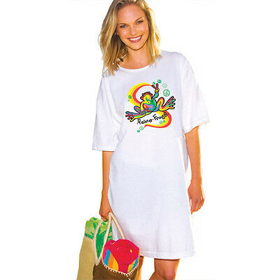 Peace Frogs Retro Night Shirt
