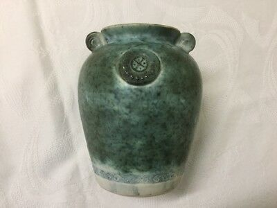 Conwy Pottery Wales Celtic Heritage  Collection Mottled Green Vase
