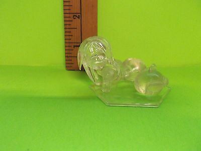 "Love Hina 1.5""in Clear Girl Figureon Knees Wading in Water with Friend"