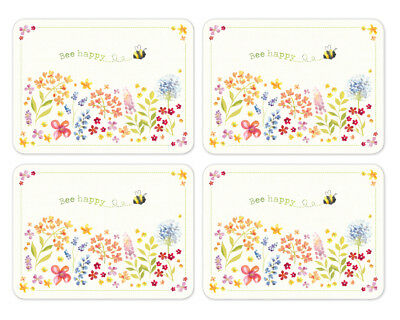 Cooksmart Bee Happy Pack of 4 Placemats Table Setting Place Mats Dining Room