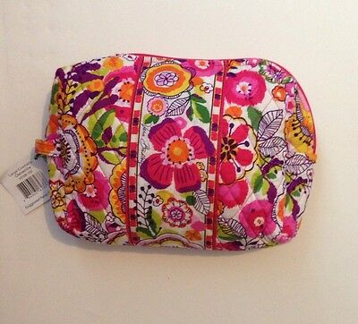 NWT Vera Bradley Travel LARGE Large Cosmetic Bag In Clementine