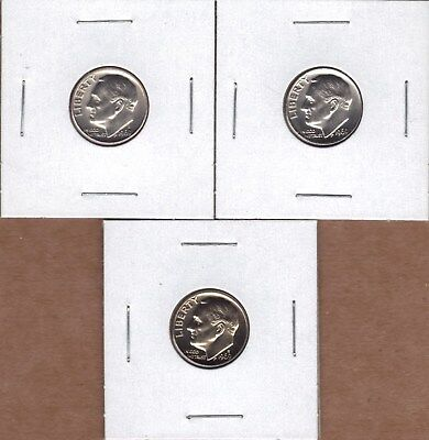 1969-P & 1969-D Uncirculated & 1969-S Proof Roosevelt Dimes (3 Coin Lot ).