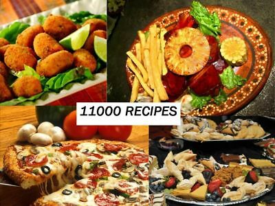 11,000 Cooking Recipes on  PDF Files CD Healthy Tasty DIY Eating Cookbook 102