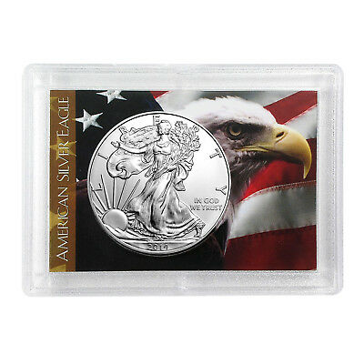 2014 $1 American Silver Eagle HE Harris Holder - Eagle Design