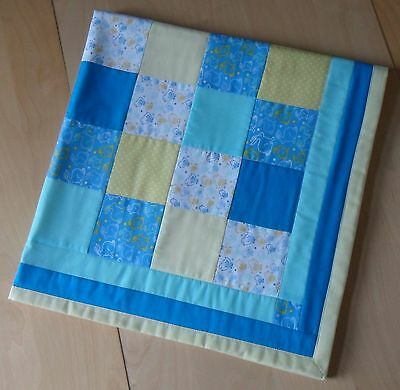 UNIQUE Hand Made Child / Baby's Quilt / Blanket / Play Mat - Bunnies & Chicks