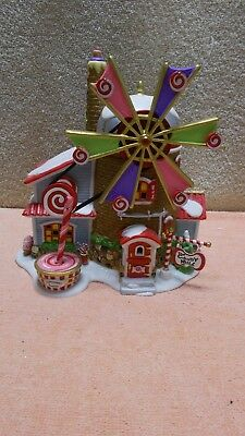 DEPT 56 North Pole Series The Christmas Candy Mill # 56762   Moving Windmill EUC