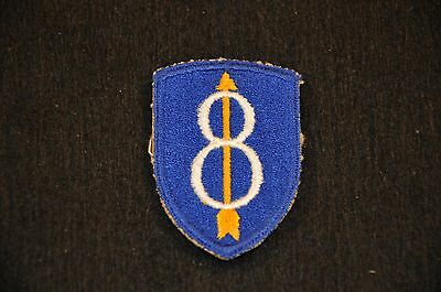 WW2 US Army Standard Sleeve Insignia SSI Patch 8th Infantry Division cut-edge